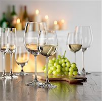 Still life with white wine in glass Stock Photo - Premium Royalty-Freenull, Code: 659-01853073