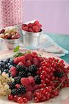 Mixed berries on a plate Stock Photo - Premium Royalty-Freenull, Code: 659-01853345