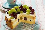 Yoghurt cake with grapes Stock Photo - Premium Royalty-Free, Artist: foodanddrinkphotos, Code: 659-01853798