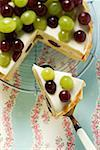 Yoghurt cake with grapes Stock Photo - Premium Royalty-Free, Artist: foodanddrinkphotos, Code: 659-01853800
