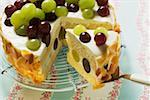 Yoghurt cake with grapes Stock Photo - Premium Royalty-Free, Artist: foodanddrinkphotos, Code: 659-01853802