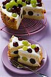 Yoghurt cake with grapes Stock Photo - Premium Royalty-Free, Artist: foodanddrinkphotos, Code: 659-01853803