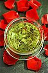 Green tea - infusion surrounded by red rose petals Stock Photo - Premium Royalty-Free, Artist: R. Ian Lloyd, Code: 659-01856035