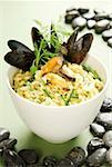 Mussel risotto with herbs and saffron Stock Photo - Premium Royalty-Freenull, Code: 659-01856191