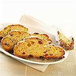 Three slices of Christmas stollen on a platter Stock Photo - Premium Royalty-Free, Artist: foodanddrinkphotos, Code: 659-01856514