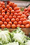 Plum tomatoes in a crate at a market Stock Photo - Premium Royalty-Freenull, Code: 659-01858802