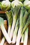 Fresh leeks at a market Stock Photo - Premium Royalty-Freenull, Code: 659-01858843