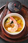 Fish soup with red mullet, shrimp lentils & pineapple (Asia) Stock Photo - Premium Royalty-Free, Artist: foodanddrinkphotos, Code: 659-01859133