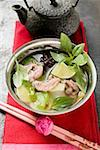 Chicken and lemon grass soup with lime, Thai basil (Asia) Stock Photo - Premium Royalty-Freenull, Code: 659-01859138
