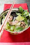 Chicken and lemon grass soup with lime, Thai basil (Asia) Stock Photo - Premium Royalty-Freenull, Code: 659-01859139