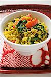 Saffron rice with currants, spinach and peppers (India) Stock Photo - Premium Royalty-Freenull, Code: 659-01859315