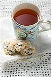 Stollen pieces and cup of tea Stock Photo - Premium Royalty-Free, Artist: Photocuisine, Code: 659-01860033