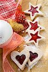 Heart- and star-shaped jam biscuits Stock Photo - Premium Royalty-Free, Artist: foodanddrinkphotos, Code: 659-01860786