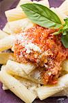 Rigatoni with tomato sauce and Parmesan (close-up) Stock Photo - Premium Royalty-Free, Artist: Glowimages, Code: 659-01861357