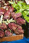 Artichokes at a market Stock Photo - Premium Royalty-Freenull, Code: 659-01861670