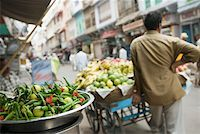Rear view of a hawker standing near a cart in a street, Ajmer, Rajasthan, India Stock Photo - Premium Royalty-Freenull, Code: 630-01872126