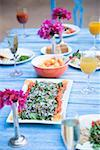 Food served on a dining table Stock Photo - Premium Royalty-Free, Artist: Aflo Relax               , Code: 630-01872810