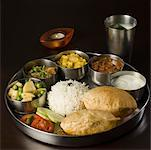 Close-up of assorted Indian food Stock Photo - Premium Royalty-Free, Artist: Andrew Kolb, Code: 630-01875687