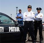 Security patrol by car Stock Photo - Premium Royalty-Free, Artist: imagebroker, Code: 604-01878359