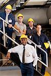 Group of workers on stairs Stock Photo - Premium Royalty-Freenull, Code: 604-01878407