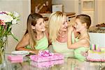 Mother and Daughters Celebrating Birthday    Stock Photo - Premium Rights-Managed, Artist: Marc Vaughn, Code: 700-01878675
