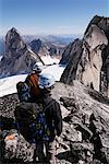 Rock Climbers in Mountains, Bugaboo Mountains, British Columbia, Canada    Stock Photo - Premium Rights-Managed, Artist: Mike Randolph, Code: 700-01878795