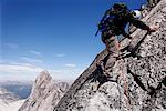 Rock Climber on Rock Face, Bugaboo Mountains, British Columbia, Canada    Stock Photo - Premium Rights-Managed, Artist: Mike Randolph, Code: 700-01878811