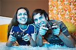 Couple Playing Video Games    Stock Photo - Premium Royalty-Free, Artist: Masterfile, Code: 600-01879511