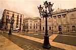 Lamppost in Plaza St Jaume, Barcelona, Spain    Stock Photo - Premium Rights-Managed, Artist: R. Ian Lloyd, Code: 700-01879610