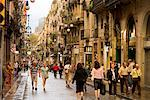Street Scene, Barcelona, Spain    Stock Photo - Premium Rights-Managed, Artist: R. Ian Lloyd, Code: 700-01879612