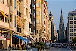 Street and Buen Pastor Cathedral, San Sebastian, Basque Country, Spain    Stock Photo - Premium Rights-Managed, Artist: R. Ian Lloyd, Code: 700-01879697