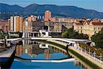 Buildings Overlooking Ria de Bilbao, Bilbao, Basque Country, Spain    Stock Photo - Premium Rights-Managed, Artist: R. Ian Lloyd, Code: 700-01879718