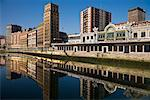 Buildings Overlooking Ria de Bilbao, Bilbao, Basque Country, Spain    Stock Photo - Premium Rights-Managed, Artist: R. Ian Lloyd, Code: 700-01879725
