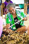 Basket Weaving, Niue Island, South Pacific    Stock Photo - Premium Rights-Managed, Artist: R. Ian Lloyd, Code: 700-01880025
