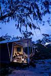 Luxury Tent, Wilson Island, Queensland, Australia    Stock Photo - Premium Rights-Managed, Artist: R. Ian Lloyd, Code: 700-01880105