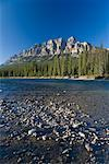 River, Forest and Mountains, Banff National Park, Alberta, Canada    Stock Photo - Premium Royalty-Free, Artist: J. David Andrews, Code: 600-01880361