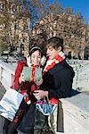 Couple Exchanging Gifts, Rome, Italy    Stock Photo - Premium Rights-Managed, Artist: Siephoto, Code: 700-01880458