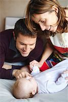 Parents with Baby    Stock Photo - Premium Royalty-Freenull, Code: 600-01887369