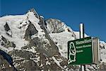 Marmot Sign, Mt Grossglockner, Salzburger Land, Austria