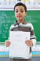 preteen  smile  one  alone - Portrait of Student With an A Plus on a Math Test    Stock Photo - Premium Rights-Managednull, Code: 700-01954508