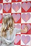 Student Looking at Valentine's Day Art    Stock Photo - Premium Rights-Managed, Artist: Chris Hendrickson, Code: 700-01954547