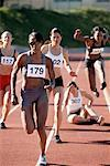 Athlete Falling During Track and Field Race    Stock Photo - Premium Rights-Managed, Artist: Blue Images Online, Code: 700-01954733