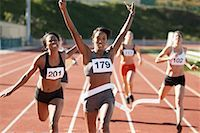 Track and Field Race    Stock Photo - Premium Rights-Managednull, Code: 700-01954739