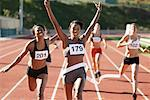 Track and Field Race    Stock Photo - Premium Rights-Managed, Artist: Blue Images Online, Code: 700-01954739