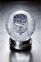 Dollar Sign in Snow Globe    Stock Photo - Premium Rights-Managednull, Code: 700-01954745