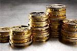 Stack of Euro Coins    Stock Photo - Premium Rights-Managed, Artist: Ron Fehling, Code: 700-01954757