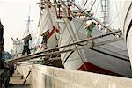 People Loading Cargo Onto Boat, Sunda Kelapa, North Jakarta, Jakarta, Java, Indonesia Stock Photo - Premium Rights-Managed, Artist: dk & dennie cody, Code: 700-01954888