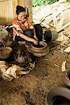 Woman Making Clay Pot, Central Java, Java, Indonesia