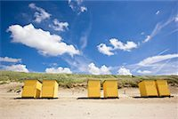 Dressing Cabins on Beach, Callantsoog, North Holland, Netherlands    Stock Photo - Premium Rights-Managednull, Code: 700-01955241