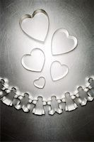 Heart Shaped Cookie Cutters with Gingerbread Men and Gingerbread Women Cookie Cutters